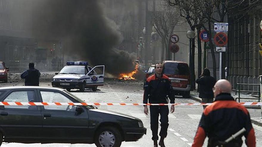 Imagen de un atentado de ETA en Bilbao.