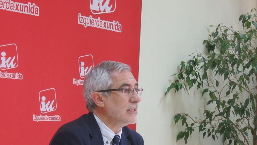 """Llamazares (IU) propone al resto de formaciones """"un pacto sin colores políticos"""" por los intereses de Asturias"""