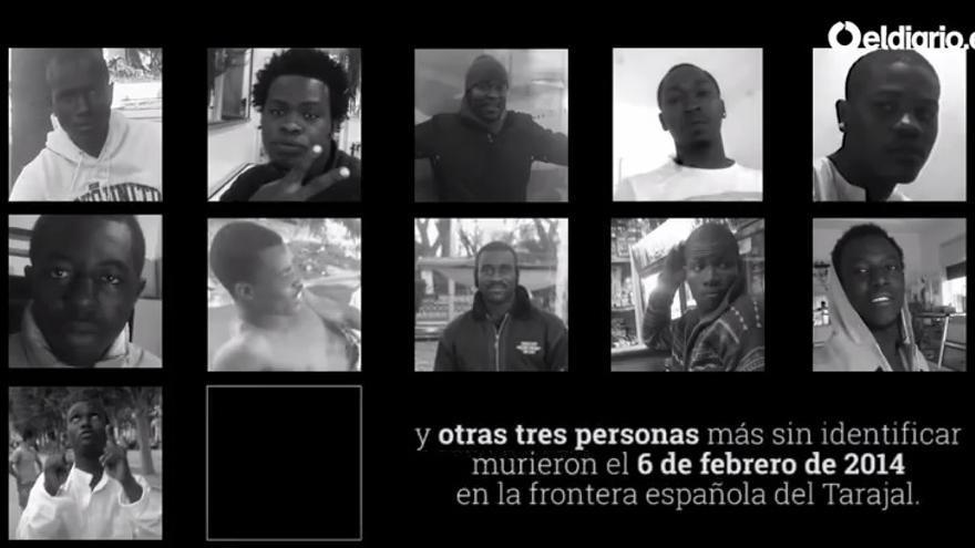 Las víctimas de las muertes de Ceuta.