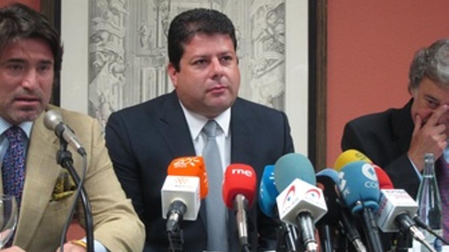 El Ministro Principal De Gibraltar, Fabian Picardo, Hoy En Rueda De Prensa.
