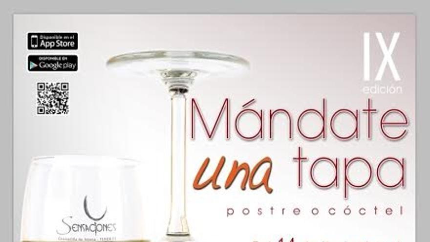 Cartel de la ruta 'Mándate una tapa' que comienza este sábado en Granadilla