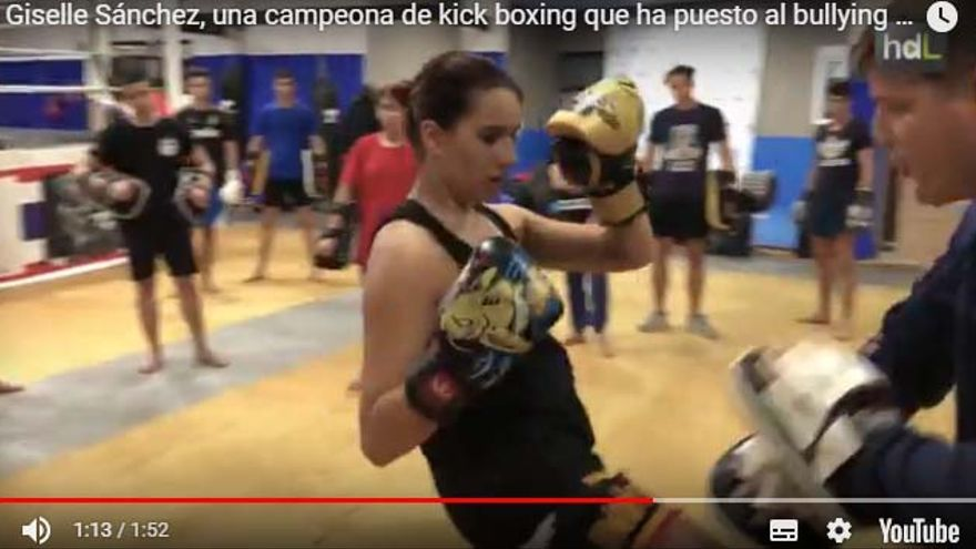 Giselle Sánchez, campeona de kick boxing