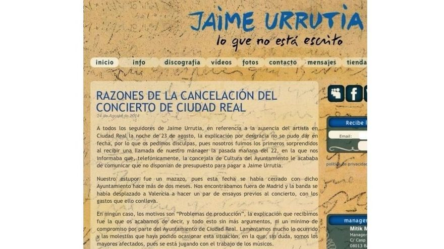 Comunicado Jaime Urrutia Ciudad Real 2