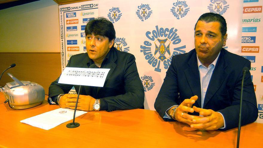 César Gómez y Quique Medina en 2005