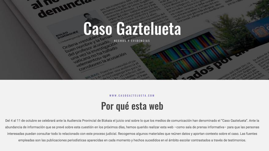 La web lanzada por el colegio Gaztelueta para desacreditar al denunciante de sus abusos