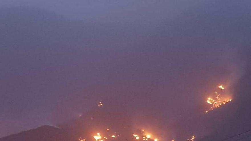 Incendio en Tasarte, Gran Canaria.