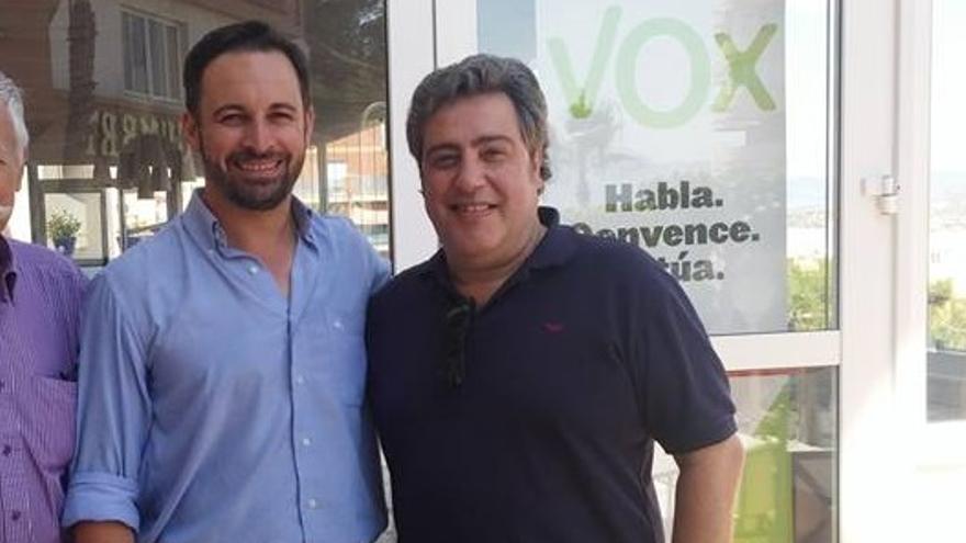 Santiago Abascal y José María Llanos