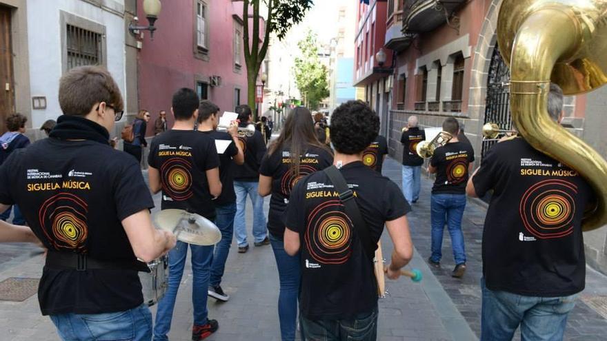 Imagen de archivo de un grupo del proyecto 'Sigue la Música'. Foto FIMC.