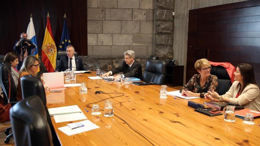 El presidente de Canarias, Ángel Víctor Torres, presidió este viernes la reunión semanal del Consejo de Gobierno.