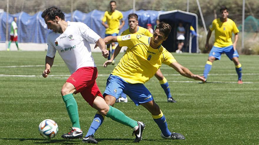 Mingo Oramas se estrena con un empate en Leioa. Foto: Iván León Santiago. Web oficial UD Las Palmas