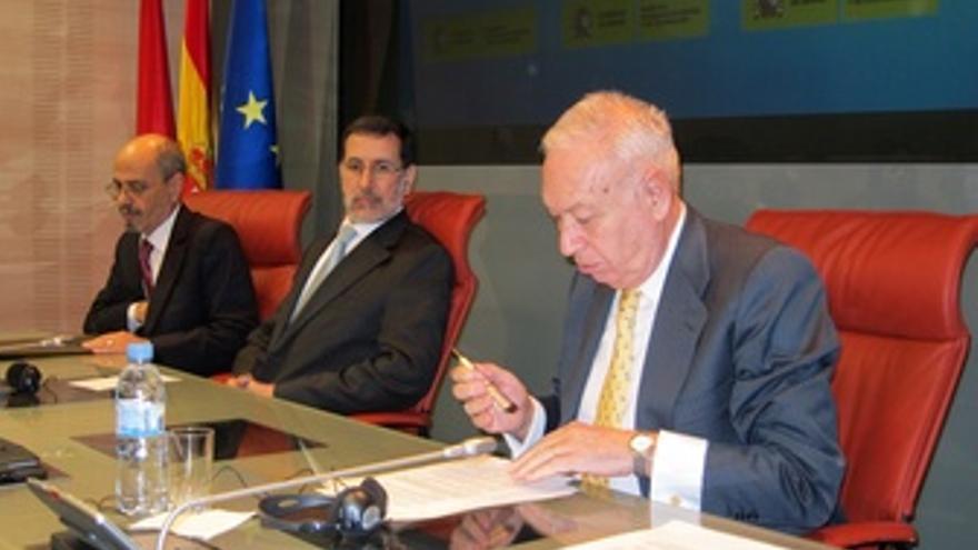 José Manuel García-Margallo Con Su Colega Marroquí