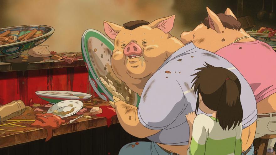 Los padres de Chihiro convertidos en cerdos.jpg