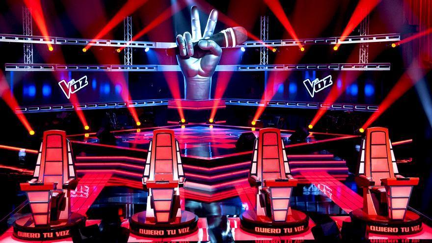 Plató de La Voz en Telecinco