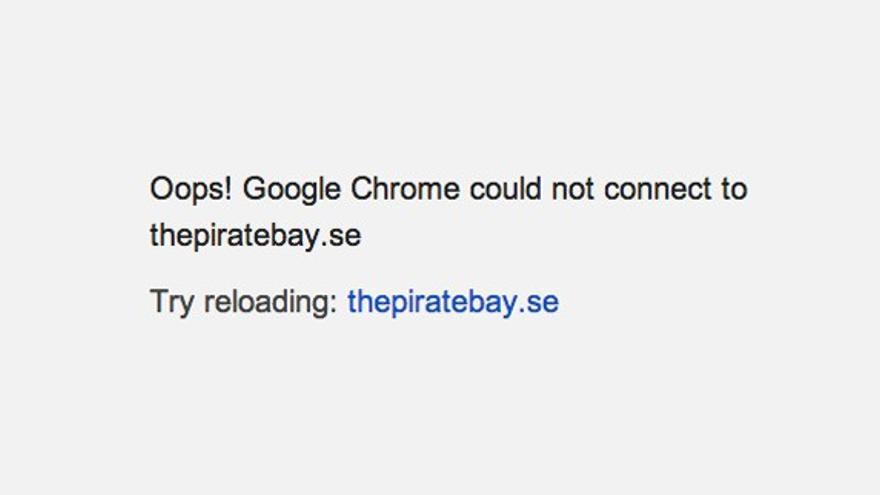 Mensaje The Pirate Bay