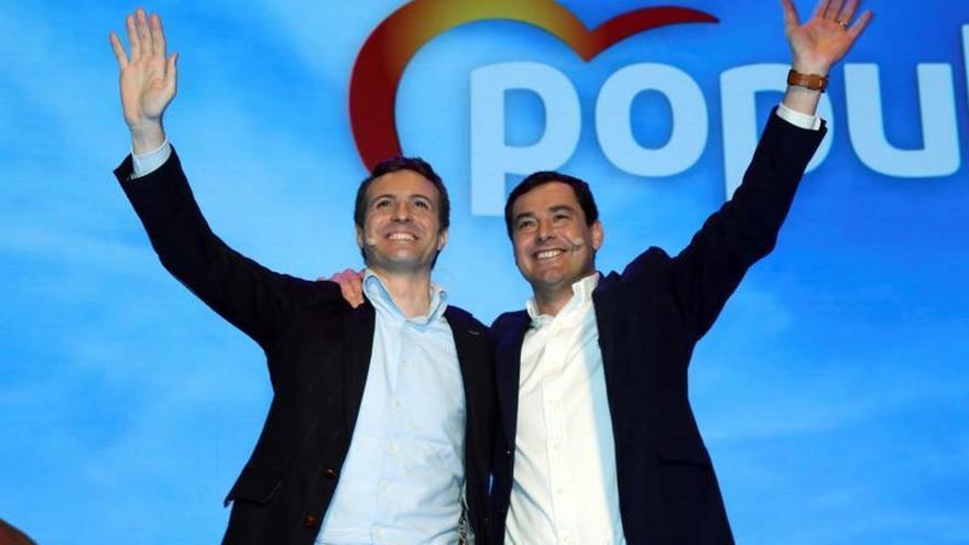 """Moreno lucha por una Andalucía próspera tras las políticas """"rancias"""" del PSOE"""