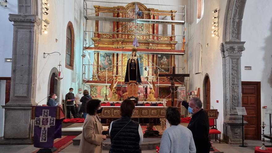 El Cabildo restaura el retablo mayor de la Iglesia de San Francisco