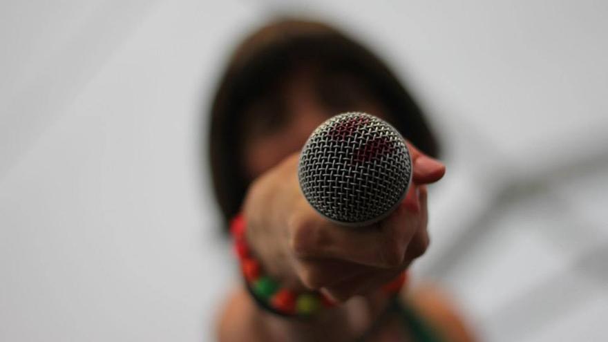 La Chula Potra, durante una actuación anterior / Foto: Nagore Rodríguez.