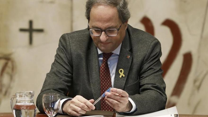 Torra anuncia una contraoferta a los comunes sobre los presupuestos catalanes