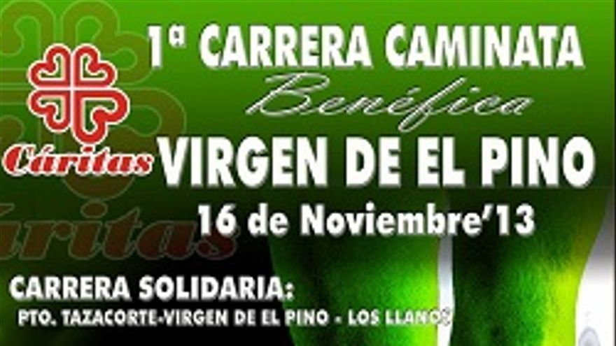 Cartel de la carrera solidaria.