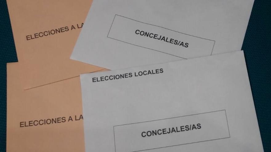 Sobres para la votación en municipales y autonómicas