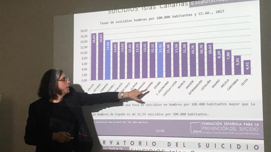 Andoni Anseán, en su charla celebrada en Santa Cruz de Tenerife