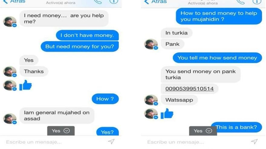 Yihadistas en Siria usan Facebook para cibersexo o pedir dinero que luego va a su bolsillo
