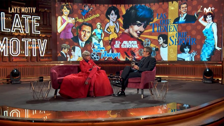 Concha Velasco y Buenafuente, en el homenaje de 'Late Motiv'