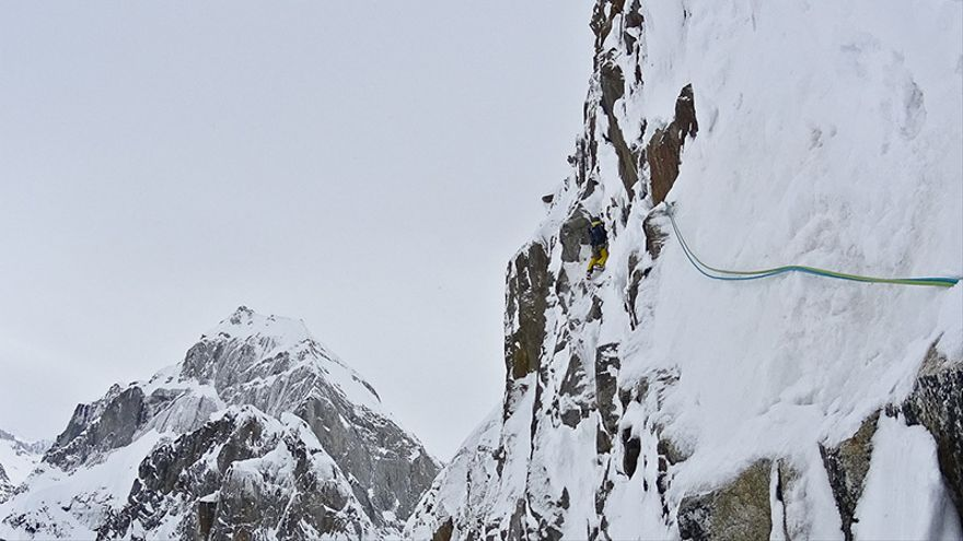 Hansjörg Auer y Much Mayr en el Monte Reaper (© Hansjörg Auer).