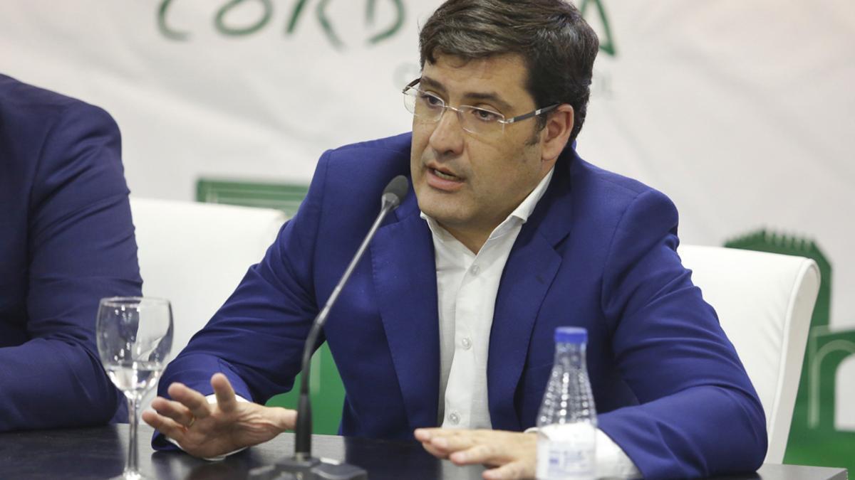 Jesús León, en una comparecencia de prensa