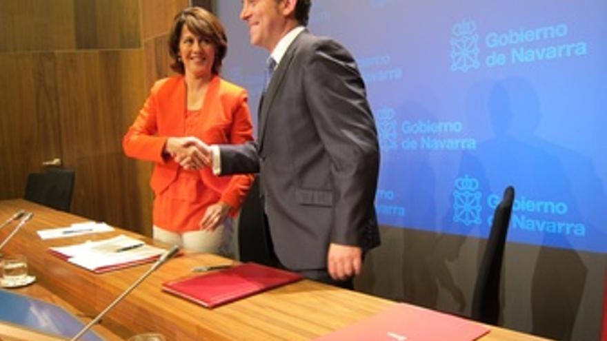 Yolanda Barcina Y Roberto Jiménez.