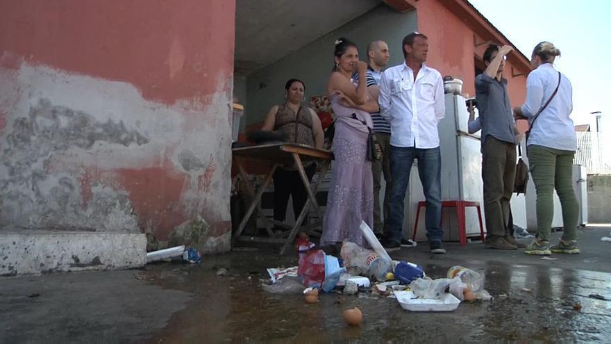 Centro de acogida de Via Salaria, una de las pocas alternativas que se ofrece a las personas desalojadas / Ismael Monzón