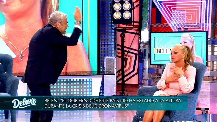 """Jorge Javier Vázquez abandona 'Sábado deluxe' enfadado con Belén Esteban: """"No consiento que me des lecciones"""""""