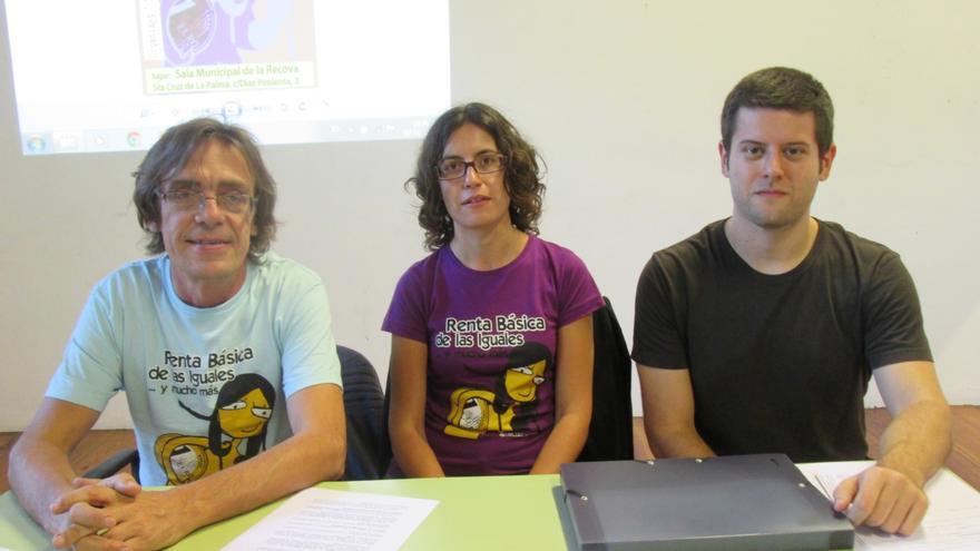 Joan Blasco, Vanessa Hermida y Miguel Casanova, este martes: Foto: LUZ RODRÍGUEZ.