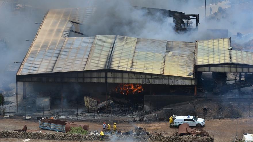 Las llamas del complejo ambiental incendiado en El Hierro han afectado a 5.000 metros cuadrados