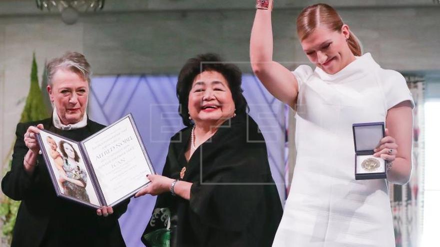 La ICAN construye un emotivo alegato antinuclear al recibir el Nobel de la Paz