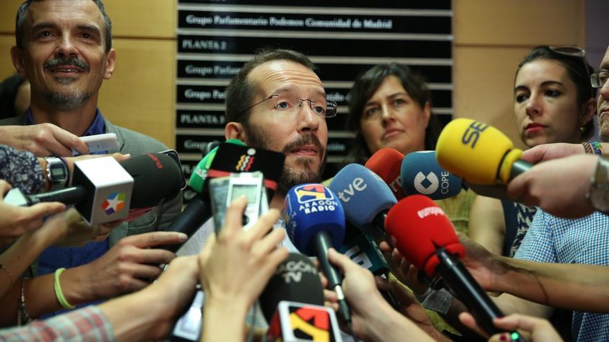 """Echenique afirma que el portavoz de Podemos en Madrid no será relevado: """"No conozco ningún ser humano que piense en eso"""""""