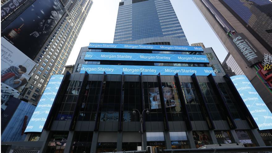 Logo de Morgan Stanley en Nueva York.