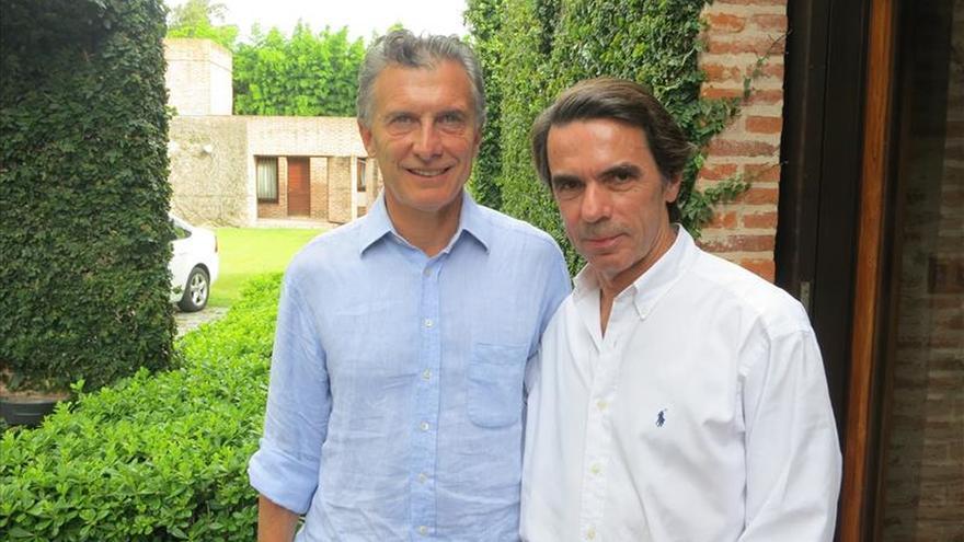 El expresidente Aznar se reunió con Macri para expresarle su apoyo