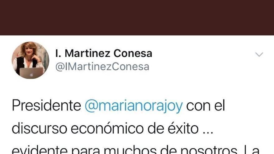 Tuit vicepresidenta Círculo Economía Murcia