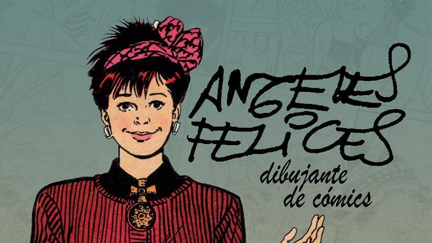Cartel de 'Ángeles Felices, dibujante de cómics'.