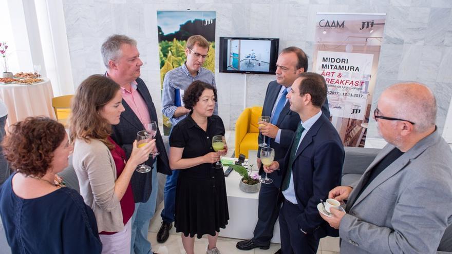 Midori Mitamura, en la presentación de la exposición en el CAAM.