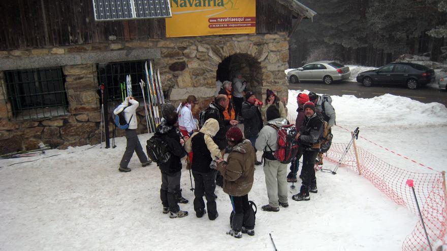 El centro de esquí en Navafría / A.S.