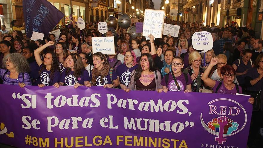 Manifestación del 8-M en Las Palmas de Gran Canaria