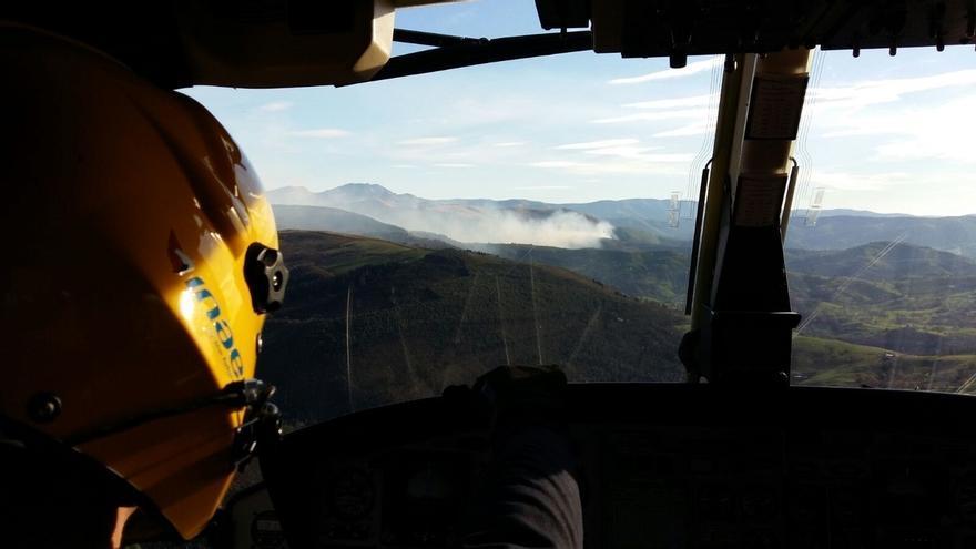 Solo un incendio forestal sigue activo en Cantabria