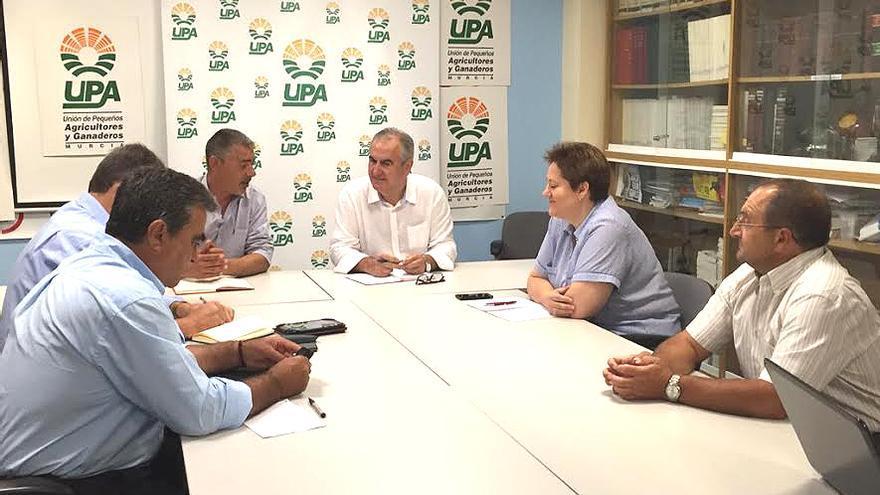 Reunión entre miembros del PSRM-PSOE y UPA