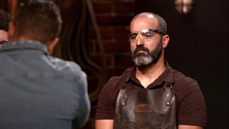 Miguel Barbudo en su debut en 'Forjado a fuego'