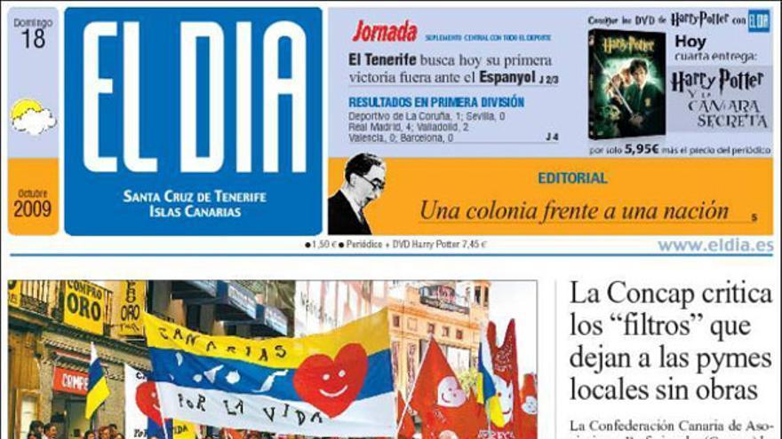 De las portadas del día (18-10-09) #5