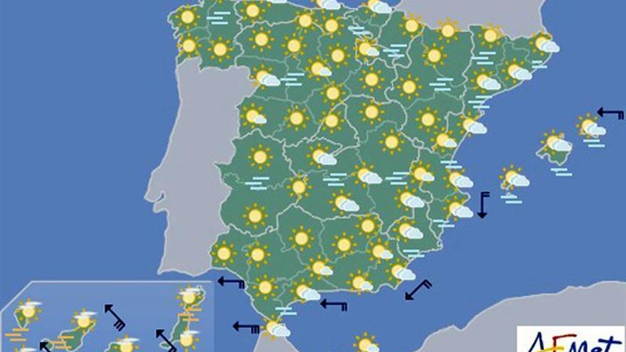 Hoy, aumento de la nubosidad en el área mediterránea y heladas en el norte