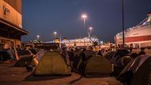 Refugiados en el Puerto del Pireo, Atenas (ANKOR RAMOS)