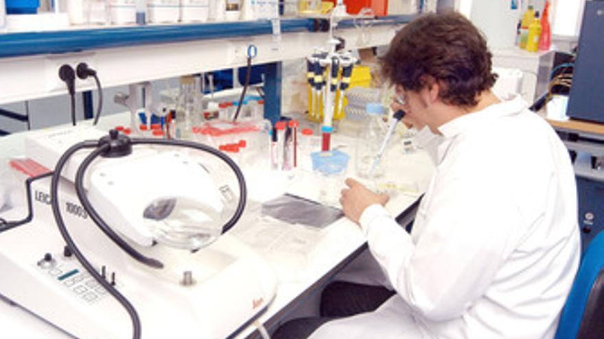 Médico trabajando laboratorio
